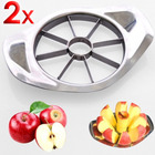 2 x Stainless Steel Fruit Slicer Apple Corer