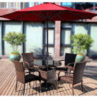 Alfresco 3m Steel Outdoor Umbrella (Maroon)