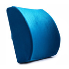 Multi-purpose Memory Foam Lumbar Back Support Cushion Pillow (Blue)