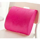 Multi-purpose Memory Foam Lumbar Back Support Cushion (Pink)