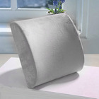 Multi-purpose Memory Foam Lumbar Back Support Cushion (Grey)