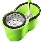 360 Degree Spin Mop & Stainless Steel Bucket Kit Green