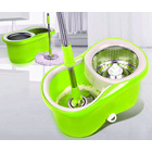 360 Degree Spin Mop & Stainless Steel Bucket Kit Green & White