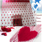 Handmade Decorative Curtain Blinds with Beautiful Love Hearts