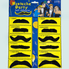 12 Pack Moustache Black
