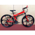 6 Spoke Foldable Mountain Bike (Premium Red & Black Bicycle)