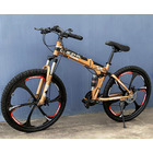 6 Spoke Foldable Mountain Bike (Premium Gold & Black Bicycle)