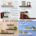3 PCS Set 468 Wall Shelves