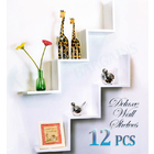 2 W 12 PCS Wall Shelf 6-in-1 WHITE