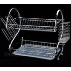 Double Level Kitchen Organizer Dish Rack