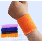 (1 Pair) 2 x Cotton Colourful Wrist Support Brace