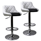 2 x Varossa Symphony  High Back Bar Stools (White Back & Black Base)