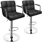 2 x Varossa Elegance  High Back Bar Stools (Black -Set of 2)