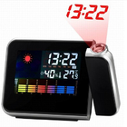 Multi-Function Weather Station LCD Alarm Clock with real-time projection