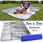 Dual Sided 2m x 2m Outdoor Picnic Mat with Aluminium Coating
