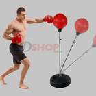 Speed Ball Stand Punching Boxing Bag Glove Set Adult Size