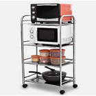 4 Tier Stainless Steel Multipurpose Storage Shelf/ Kitchen Service Trolley