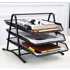 3-Tier Office Document Tray Paper/Magazine Metal  Holder