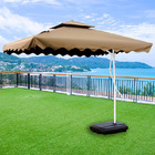 Varossa 3.5m Large Square Cantilever Outdoor Umbrella  (Beige / Tan)