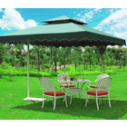 Varossa 3.5m Large Square Cantilever Outdoor Umbrella  (Green)