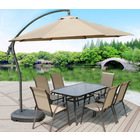 3m Heavy Duty Round Cantilever Outdoor Umbrella (Beige/Tan)