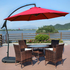 3m Heavy Duty Round Cantilever Outdoor Umbrella (Red)