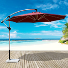 3m Aluminium Cantilever Outdoor Umbrella  (Maroon)