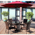 Alfresco 2.7m Steel Outdoor Umbrella (Maroon)