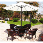 Alfresco 2.7m Steel Outdoor Umbrella (White)