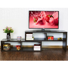 Varossa 2 In 1 Multifunctional Adjustable TV Cabinet /Coffee Table /Display Shelf (BLACK WALNUT)