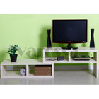 Varossa 2 In 1 Multifunctional Adjustable TV Cabinet /Coffee Table /Display Shelf (WHITE)