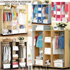 Varossa's Spacesaver Wardrobe Cupboard Shelves & Clothes Hanging Racks Furniture