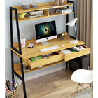 Liberty Tall Computer Desk Workstation with Shelves & Drawers (Oak)