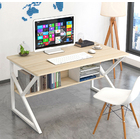 Kori Wood & Metal Computer Desk with Shelf (White)