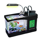 Desktop Aquarium USB Fish Tank/Alarm Clock/Lamp (Black)