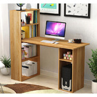 Combination Workstation Computer Desk with 6 Storage Shelves (Oak)