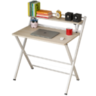 Express Folding Desk with Shelf (White)