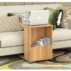 Hermes Sofa Side Table with Magazine Holder (Natural Oak)