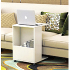 Sofa Side Table with Magazine Holder (WHITE)