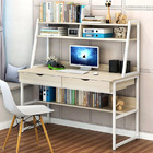 Enterprise Large Computer Desk Workstation with Shelves & Drawers (White)