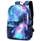 Glow In Dark Backpack Laptop Travel School Bag