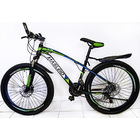 24 Speed Ultra Mountain Bike (Green & Black Bicycle)