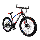 24 Speed Ultra Mountain Bike (Red & Black Bicycle)