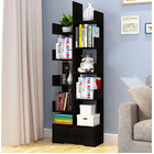 8 Level Display,Storage,Utility,Book Shelf Home Office Furniture Shelving (Black Wood)