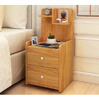 Parklane Tall Bedside Table with Chest of Drawers and Shelf (Oak)