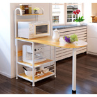 Continental Stylish Kitchen Benchtop Storage Shelf & Bench (Oak)