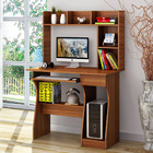 Elite Computer Desk Table +Shelf & Drawer Office Study Student Furniture (Walnut)