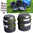 4-Piece Camp Outdoor Cooking Camping Pots Set