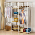 Galaxy Wardrobe Cupboard Shelves & Clothes Hanging Racks (White Oak)