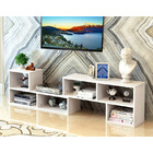 5 in 1 Combination Multi-way Adjustable TV Cabinet /Coffee Table /Display Shelf (White)